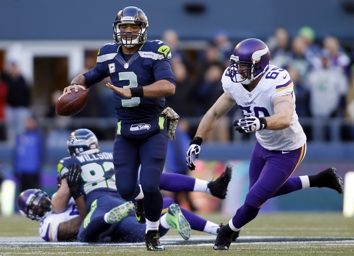 Russell Wilson and the Seahawks face the Saints in Seattle Monday night. (Associated Press)