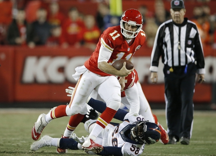 Alex Smith and the Chiefs face Washington today. (Associated Press)