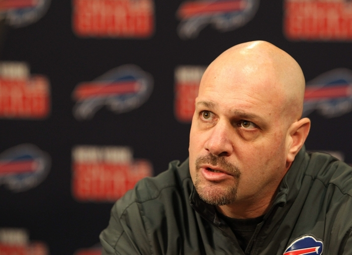 Coordinator Mike Pettine's defense ranks 15th in yards allowed and first in sacks, but has yielded some big plays. (Mark Mulville/Buffalo News)