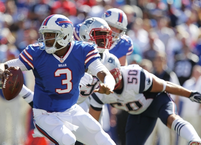 "Lack of ""escapability"" is a big reason the Bills are sitting quarterback EJ Manuel for this week's game against Miami. (Mark Mulville/Buffalo News)"