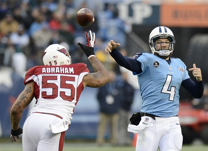 Tennessee quarterback Ryan Fitzpatrick is coming off his best game of the season with a 402-yard, four-touchdown performance against Arizona, which gives up value this week against lowly Jacksonville. (Associated Press)