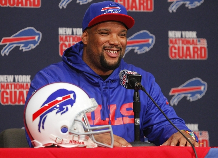 Alan Branch has a new contract with the Bills that could keep him here for the next three seasons. (News file photo)