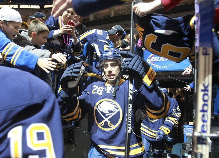 Matt Moulson hasn't scored since getting two in his Sabres debut. (Harry Scull Jr./Buffalo News)