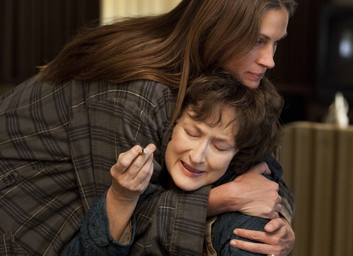"""Julia Roberts and Meryl Streep in a scene from """"August: Osage County."""""""
