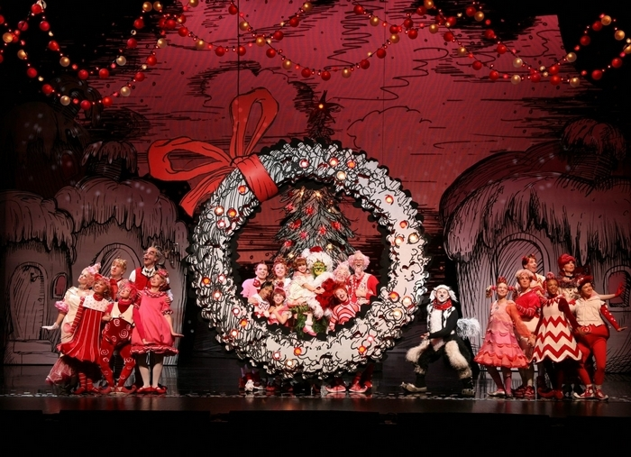 """On stage at Shea's: """"How the Grinch Stole Christmas! The Musical."""""""
