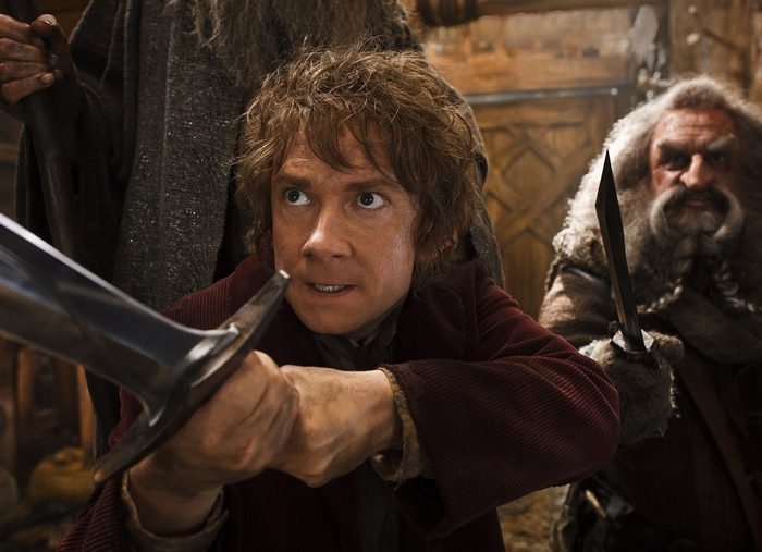 """Martin Freeman, left, and John Callen in a scene from """"The Hobbit: The Desolation of Smaug."""""""