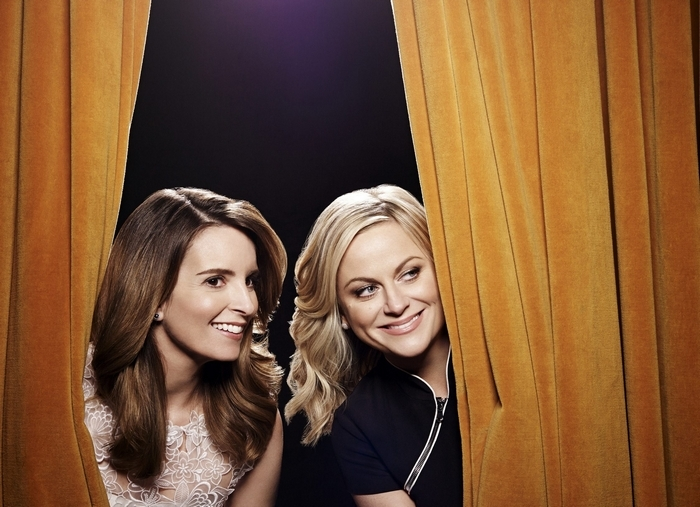 Tina Fey, left, and Amy Poehler return to host the Golden Globes Awards after winning rave reviews last year. (Photo by: Art Streiber/NBC)