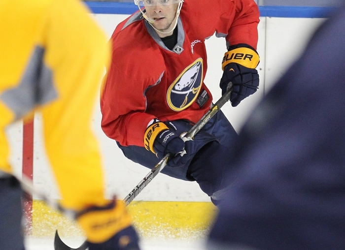 Drew Stafford is gaining confidence with the toxic environment gone. (Mark Mulville/Buffalo News)