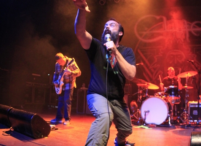 Neil Fallon, lead singer of Clutch, performs Friday night at the Town Ballroom. (Harry Scull Jr./Buffalo News)