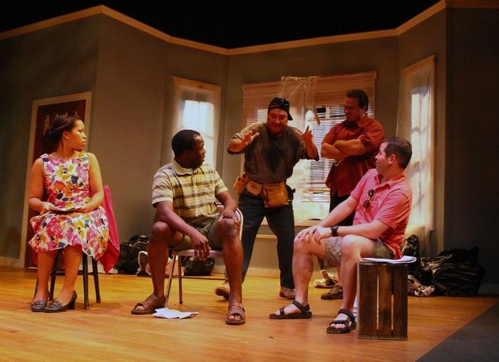 "From left,  Danica Riddick, Barry Williams,Dave Mitchell,  Matt Witten and  Bob Grabowski star in """"Clybourne Park"" 710 Main.(John Hickey/Buffalo News)"