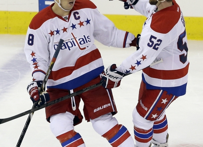 Washington's Alex Ovechkin (8) leads the NHL in goals and is making a strong case for winning a fourth Hart Trophy as MVP. (Associated Press)