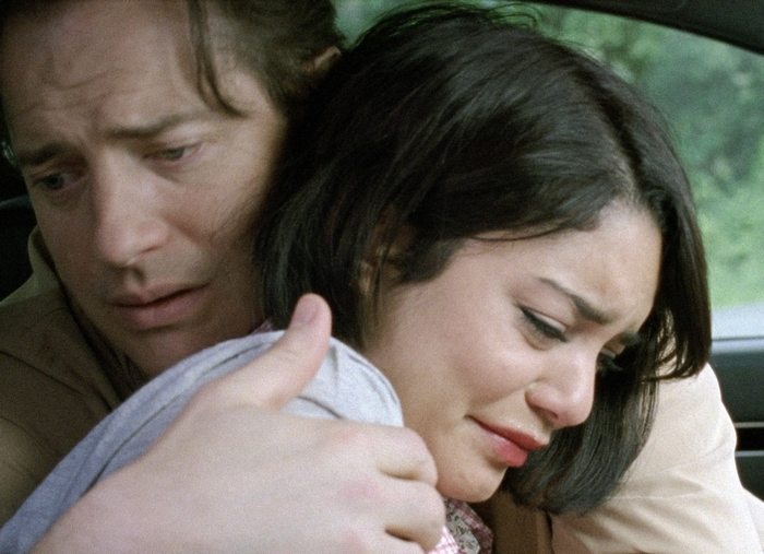 """Brendan Fraser and Vanessa Hudgens in a scene from """"Gimme Shelter."""" (AP Photo/Roadside Attractions)"""