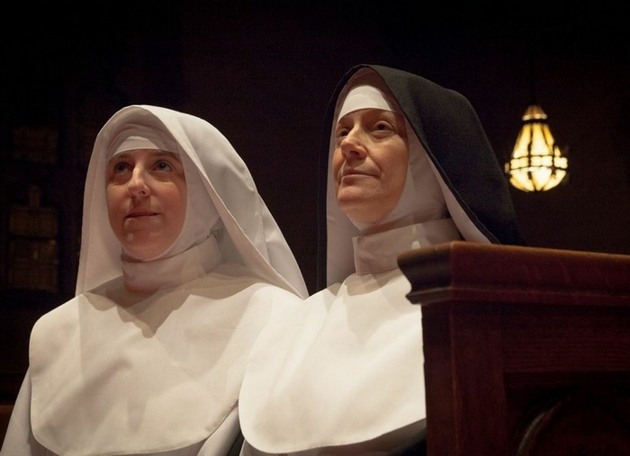 """Kelly Beuth and Kate Olena star in the Brazen-Faced Varlets' production of """"Agnes of God."""""""