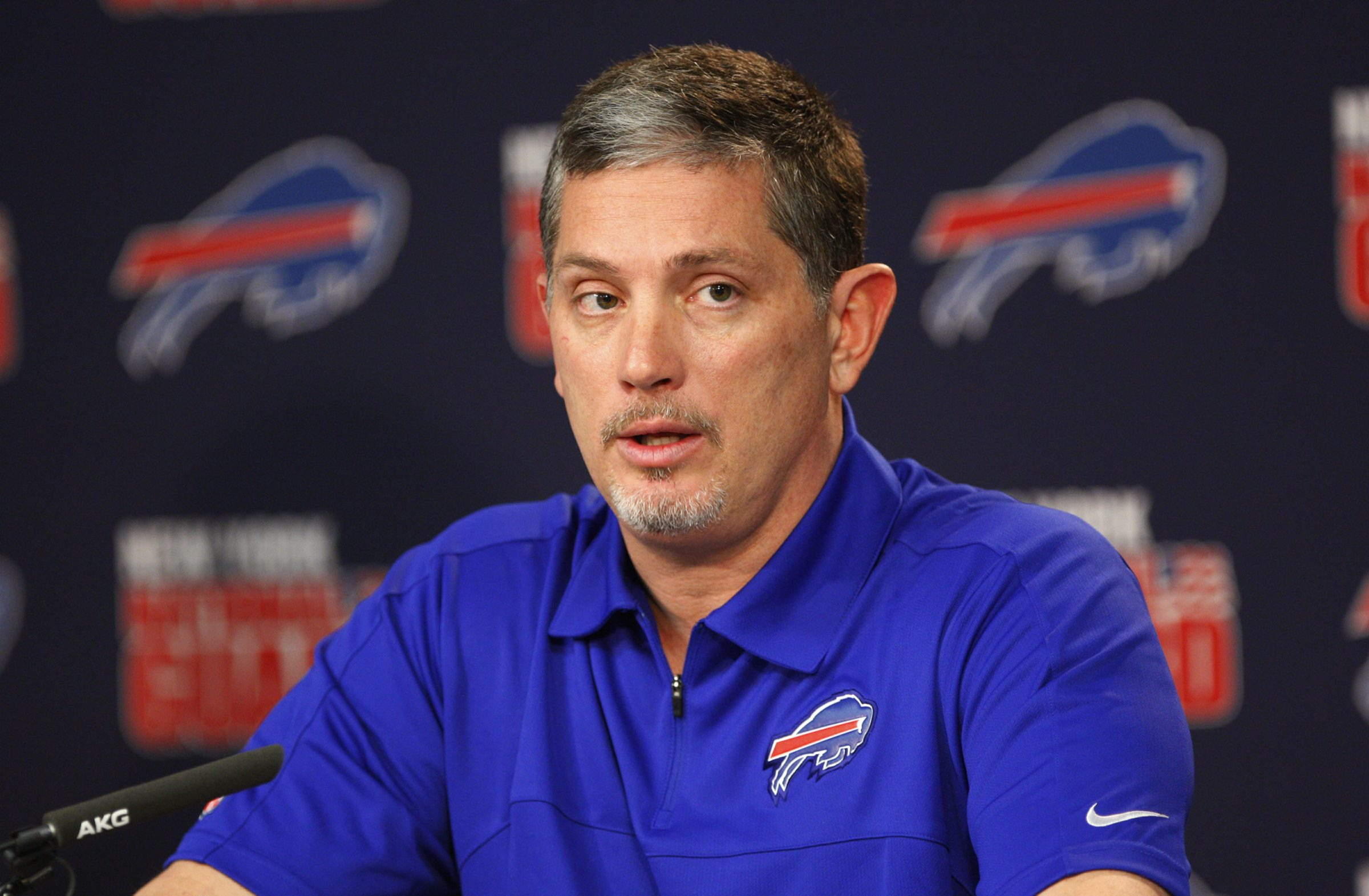 """""""This is a tremendous opportunity for a defensive coordinator,"""" said Jim Schwartz. """"There are some real positives we can build on here."""" (Harry Scull Jr./Buffalo News)"""