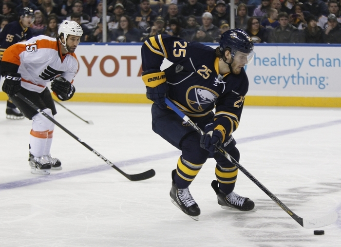Mikhail Grigorenko's saga took a turn as he has balked at returning to his junior team after being sent down by the Sabres on Saturday. {Photo by Harry Scull Jr. / Buffalo News}