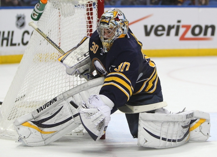 Ryan Miller has not met with new general manager Tim Murray, but expects to soon. (Mark Mulville/Buffalo News)
