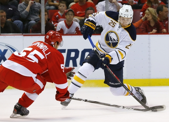 Mikhail Grigorenko has been cut from the Sabres' roster. (Associated Press)