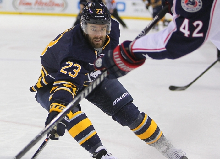 In the third season of his six-year, $27 million deal, Ville Leino has no goals, six assists and a minus-8 rating in 30 games. (Mark Mulville/Buffalo News)