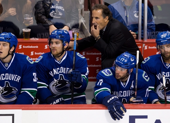 Vancouver Canucks coach John Tortorella won't be behind the bench for six games due to Monday's suspension over his behavior at Saturday's game with Calgary. (Associated Press)