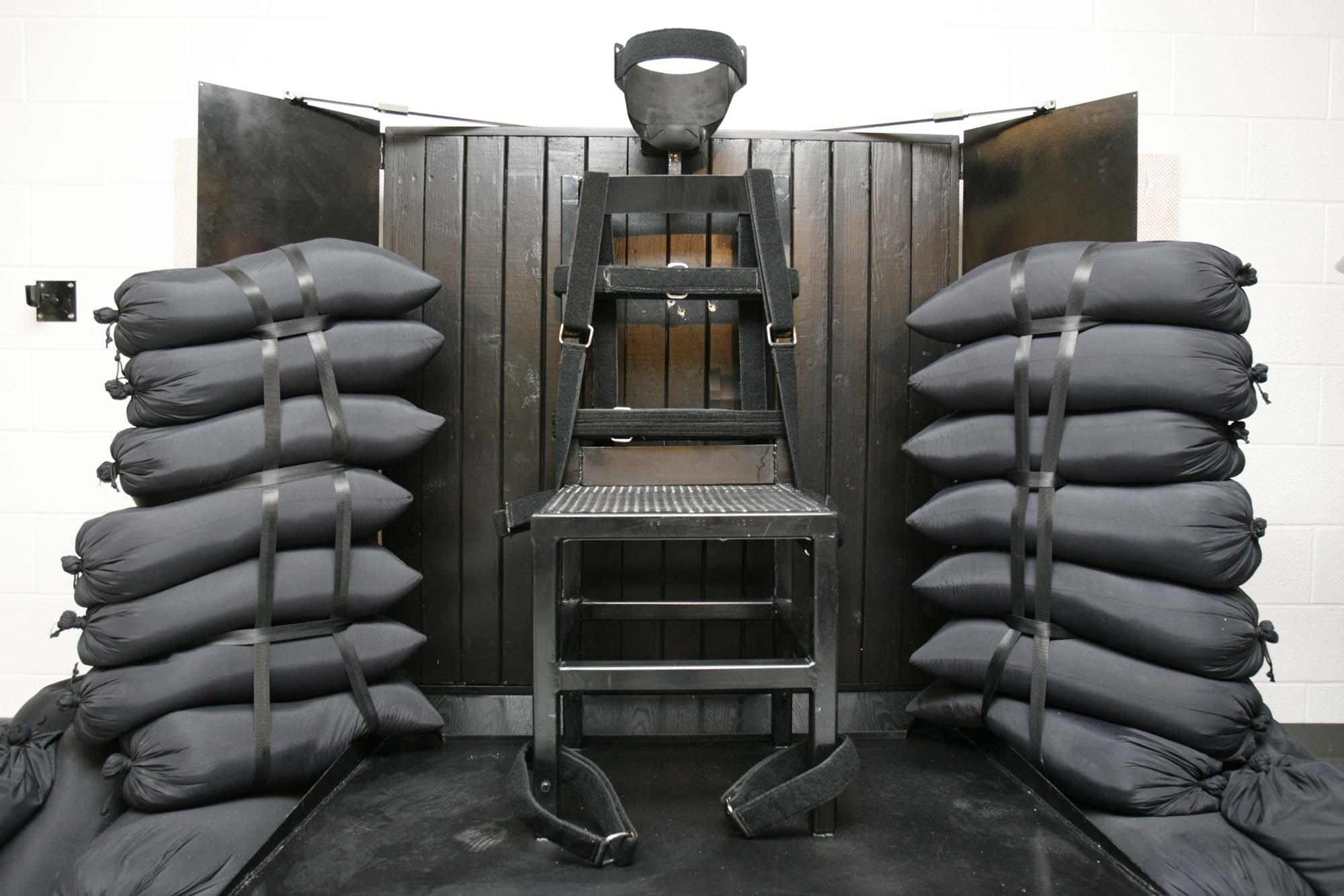 Rather than turn to such methods of execution as the firing squad, (shown above) once used in Utah, states should turn to life without parole. (AP photo)