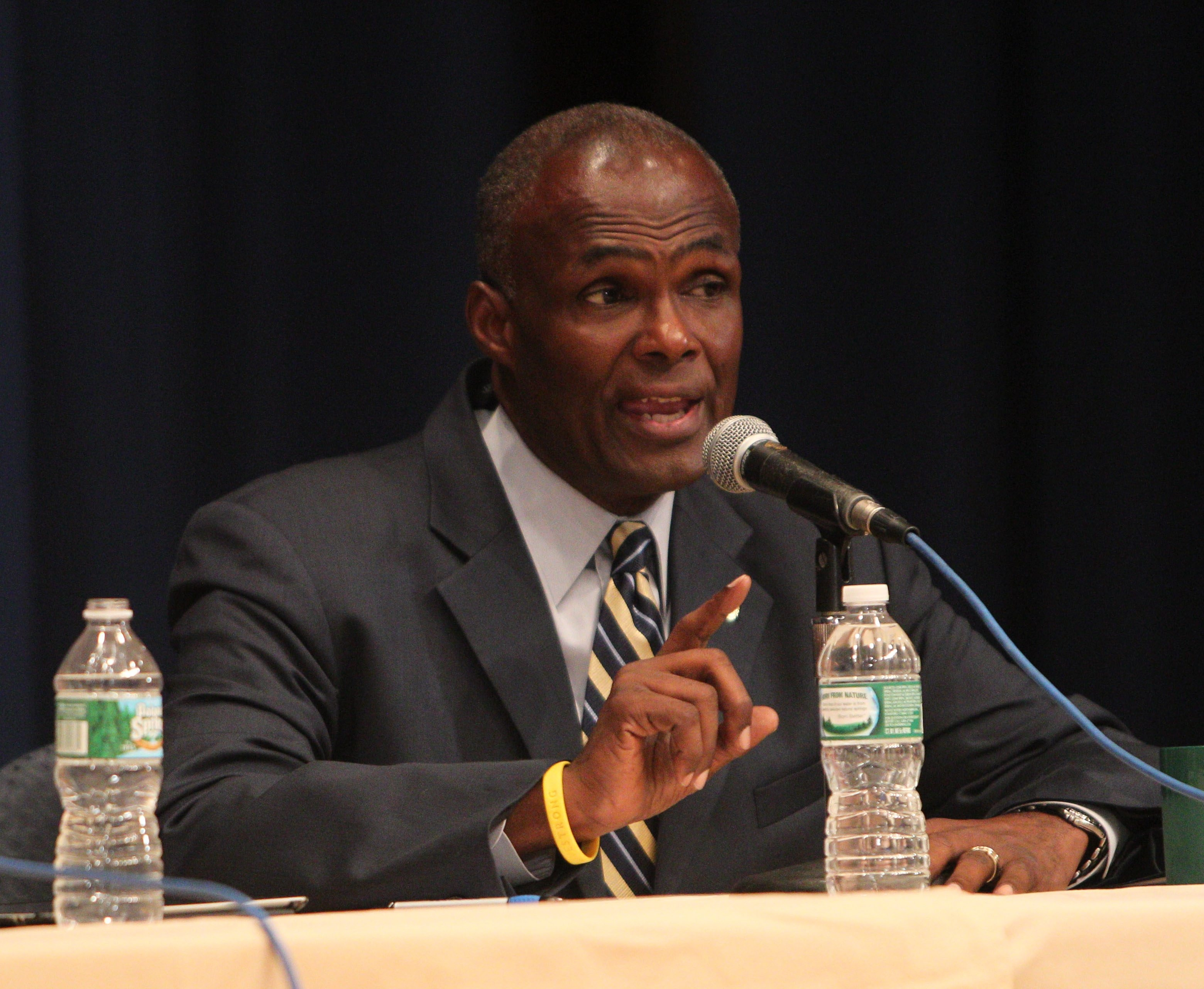 Former mayoral candidate Bernard Tolbert, shown in a file photo participating in a Mayoral Forum last summer, has announced he will seek one of the three at-large seats on the Buffalo School Board.