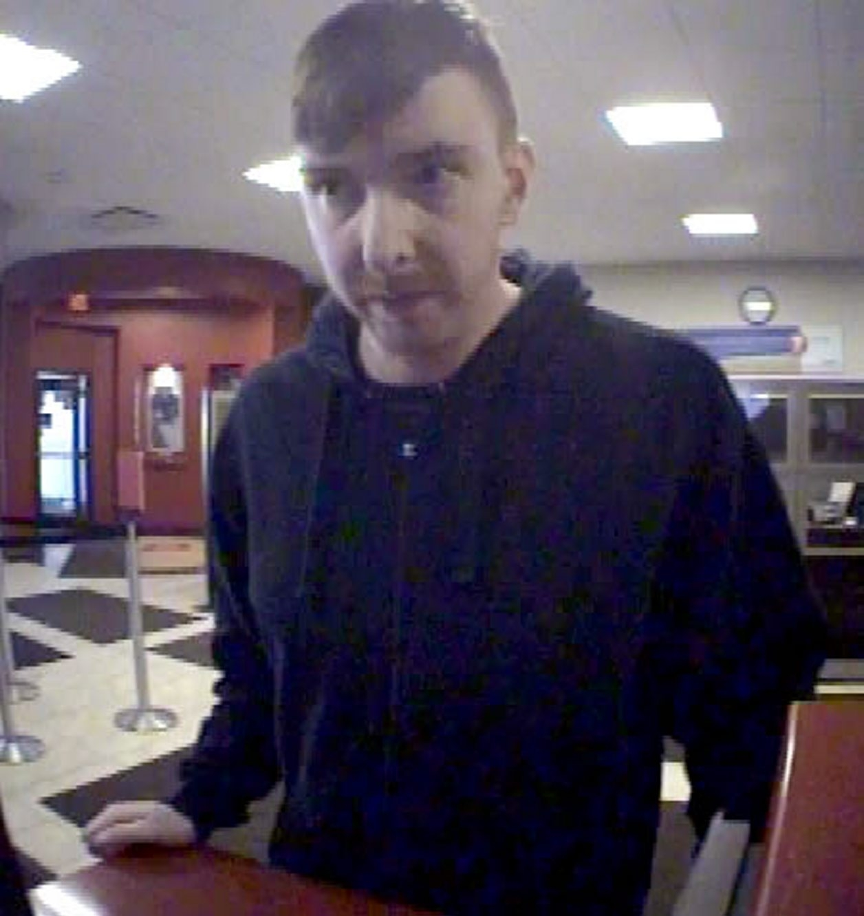 This surveillance photo of the suspect in the KeyBank branch robbery was released by Town of Tonawanda police.