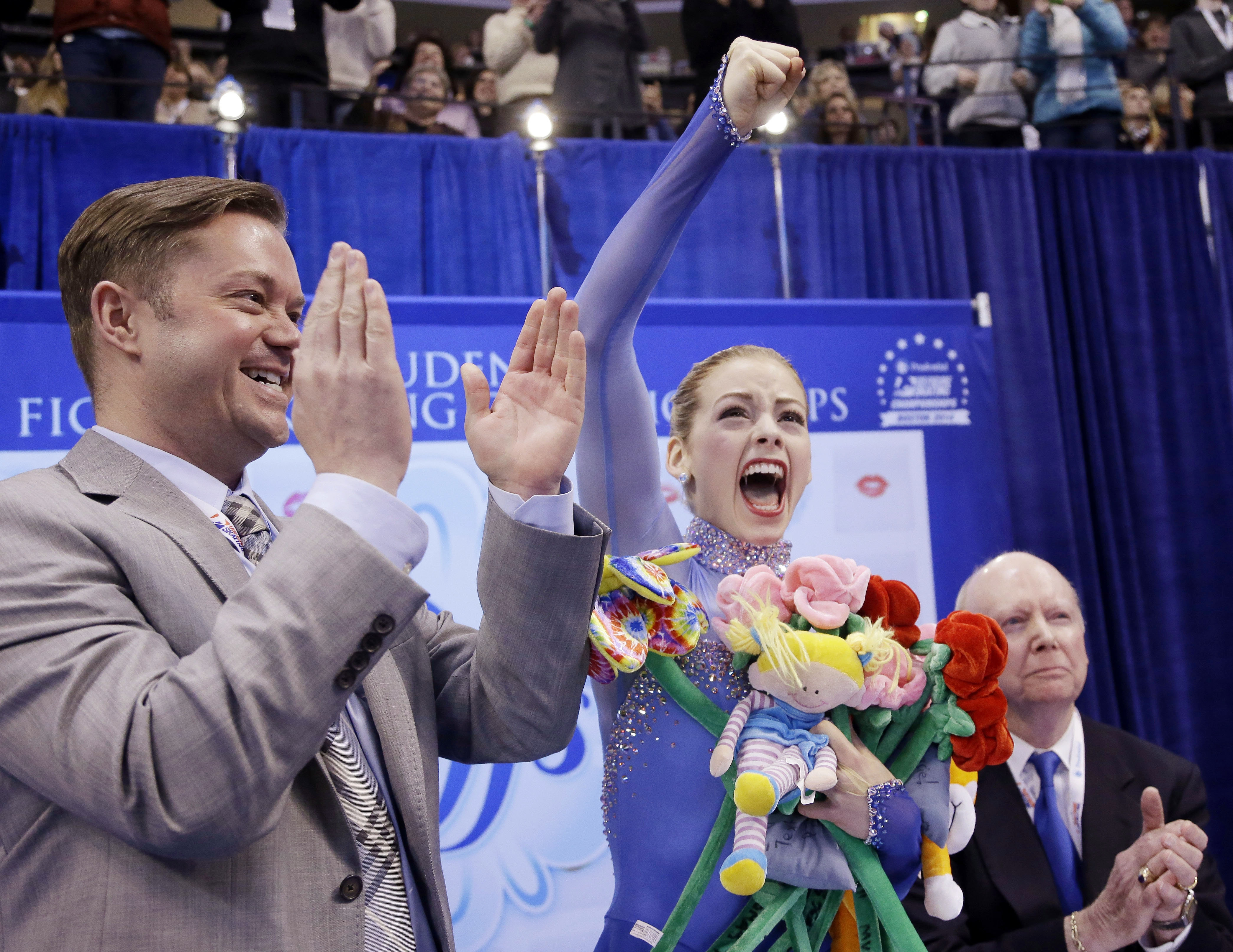 Gracie Gold performed superbly at the national championships in Boston.