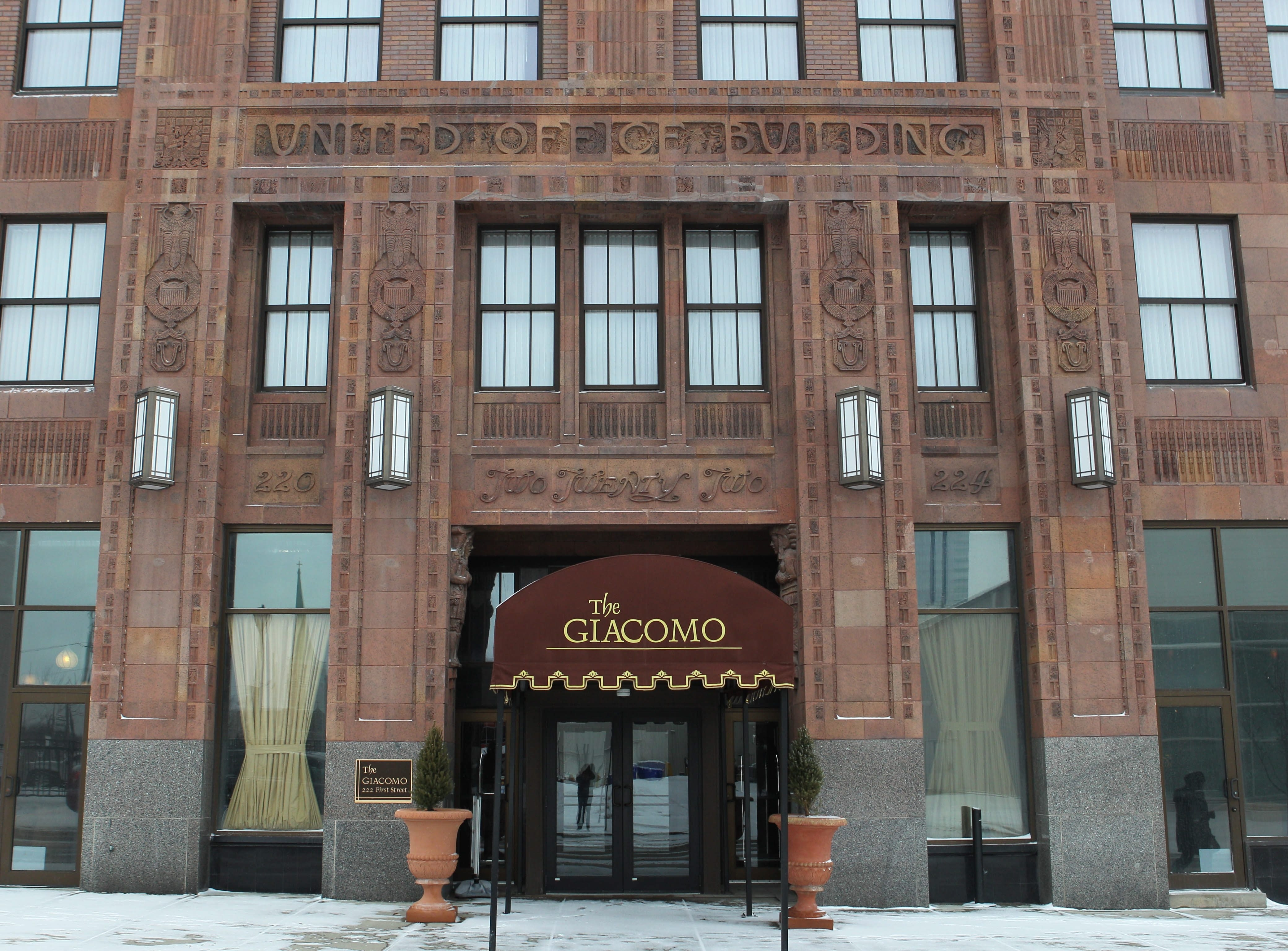The Giacomo, formerly the United Office Building, at 222 First St., is one of the historic sites that may be on a new tour of Niagara Falls.  Photo taken,  Monday, Jan. 20, 2014.  (Sharon Cantillon/Buffalo News)