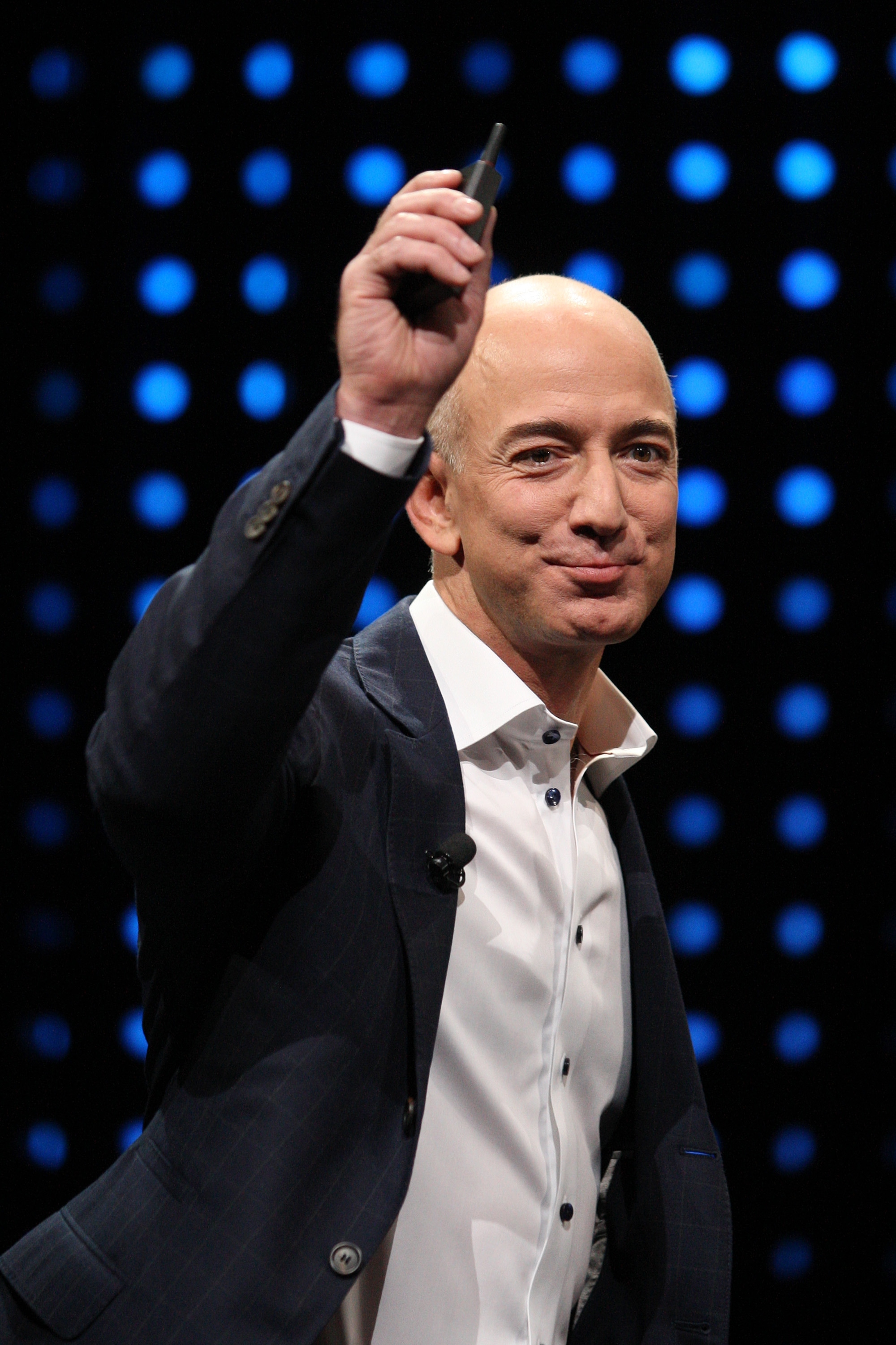 """Brad Stone describes Jeff Bezos' laugh as """"a guttural roar that sounds like a cross between a mating elephant seal and a power tool."""""""