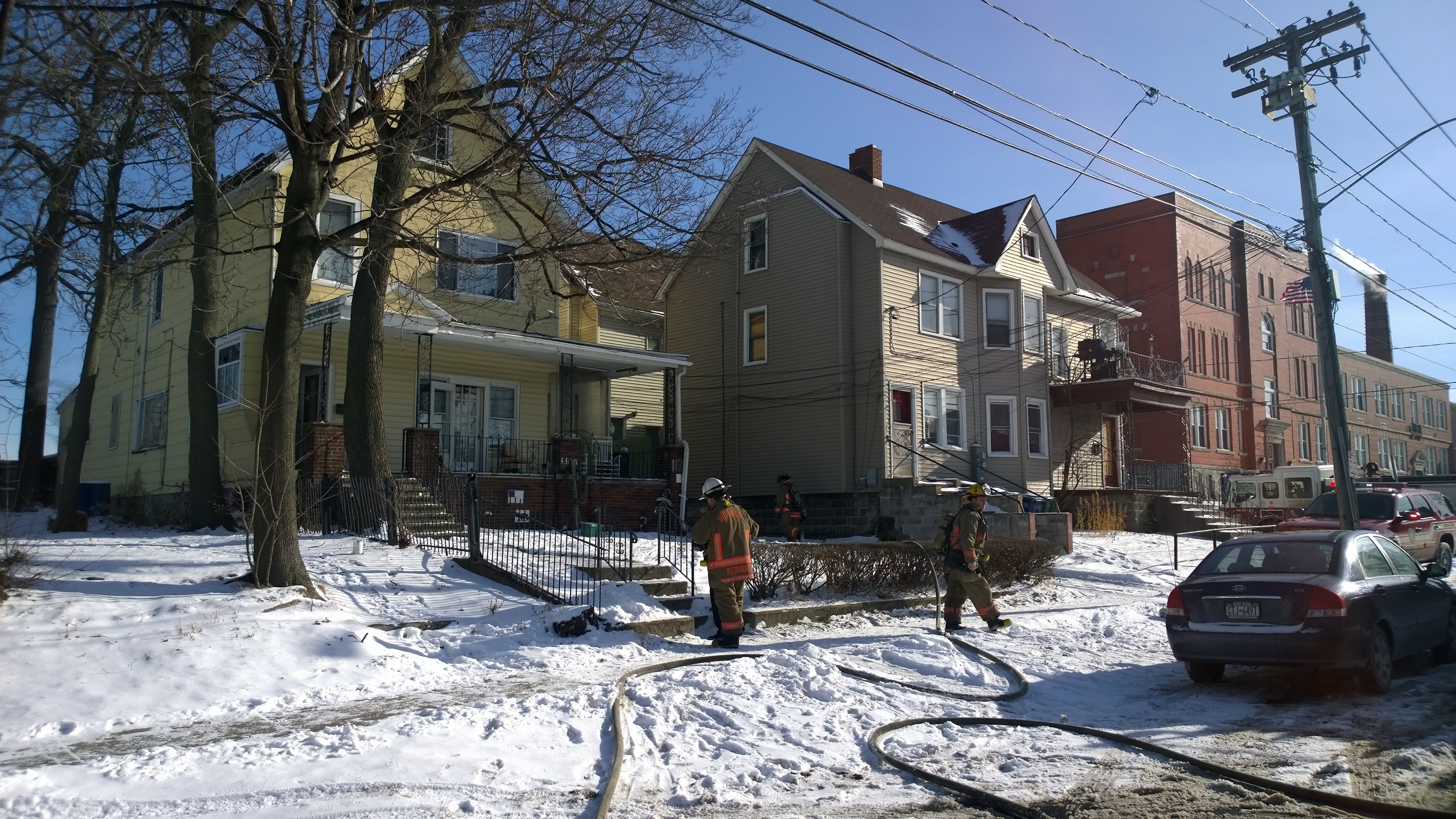 Buffalo firefighters were called out to battle a blaze at a West Avenue home on the City's West Side that was caused by an occupant trying to thaw frozen pipes. No injuries were reported.   David F. Kazmierczak