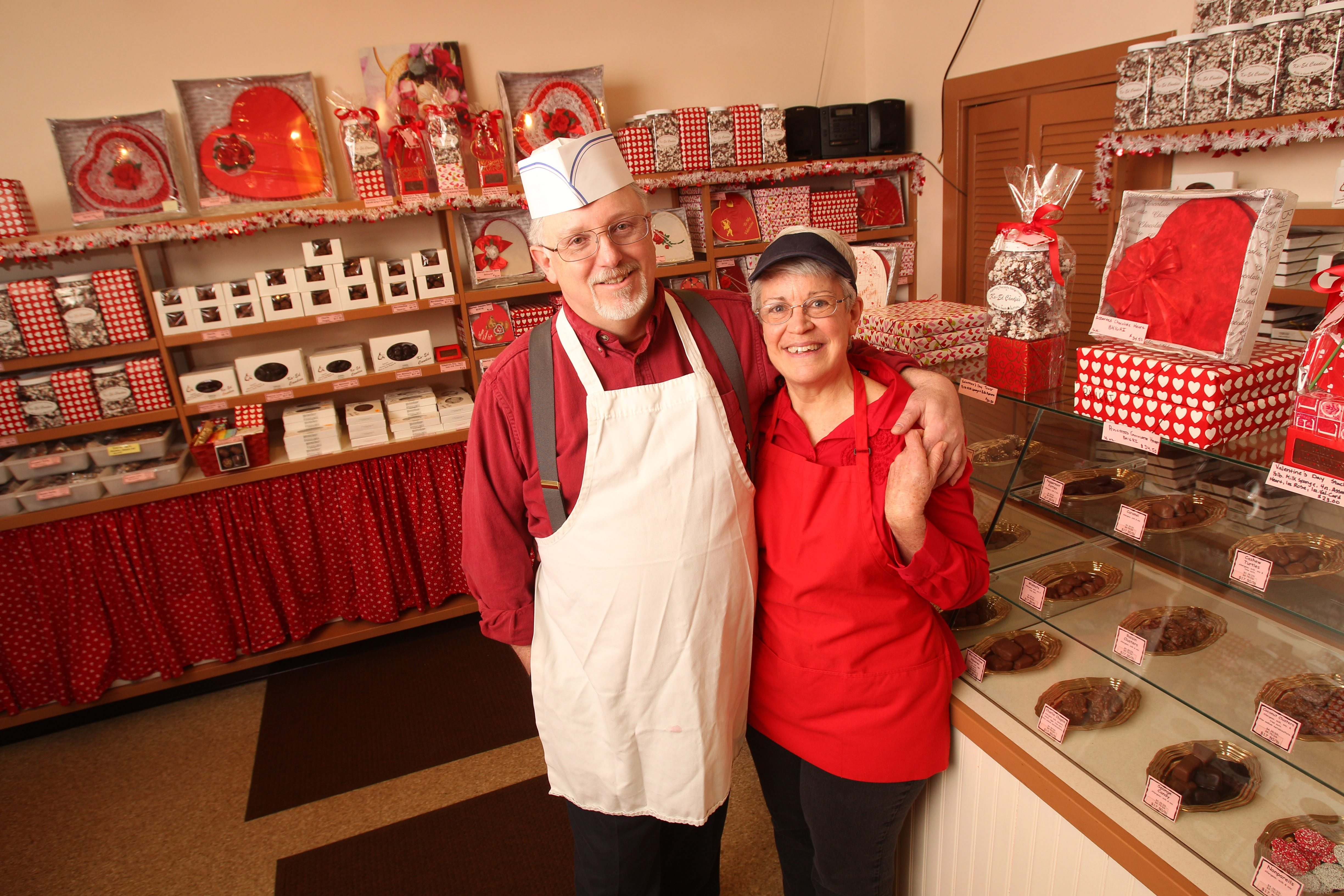 Gary and Sandy Whitt are selling Ko-Ed Candies on Abbott Road in South Buffalo.  (Sharon Cantillon / Buffalo News file photo)