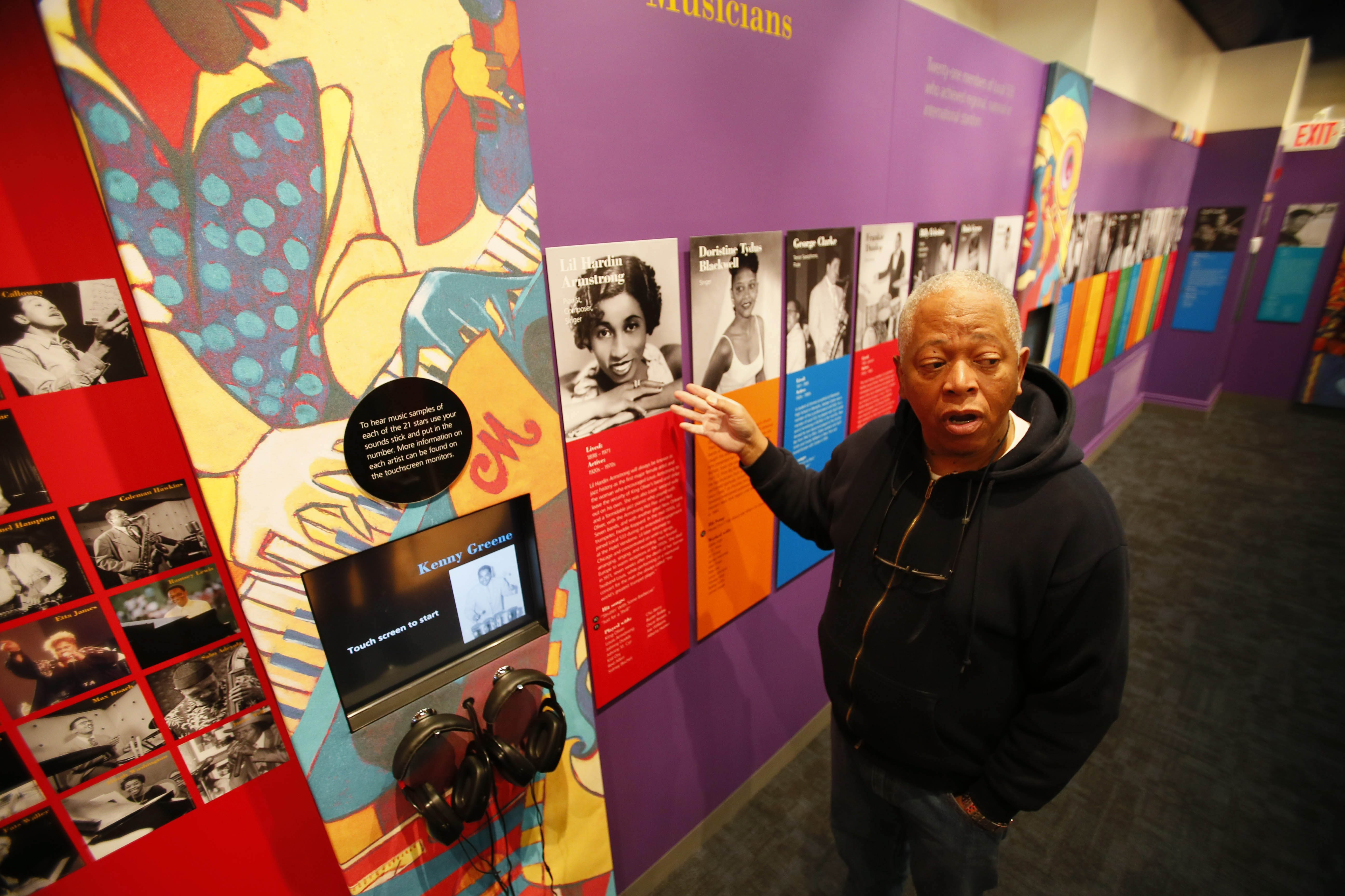 """Volunteer curator Danny Williams sees Colored Musicians Club  Museum as """"a place to enjoy an important slice of history."""""""