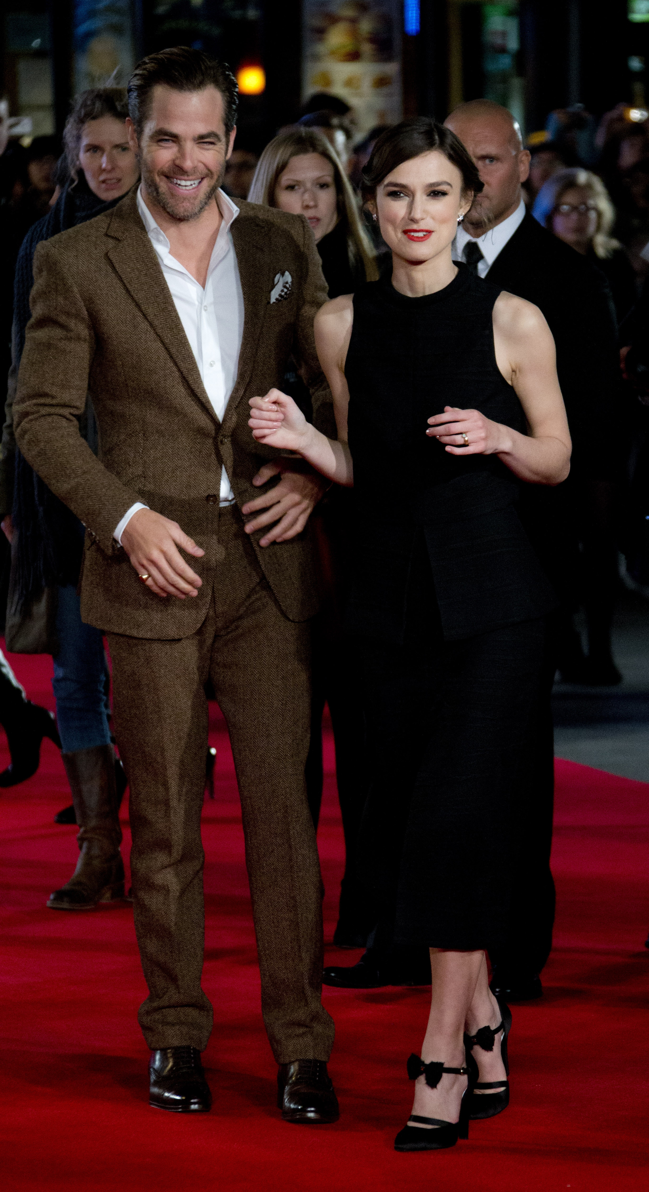 """Out of the 'Shadow':  Actors Chris Pine and Keira Knightley arrive on the red carpet in Leicester Square, London, Monday for the European premiere of """"Jack Ryan: Shadow Recruit."""""""