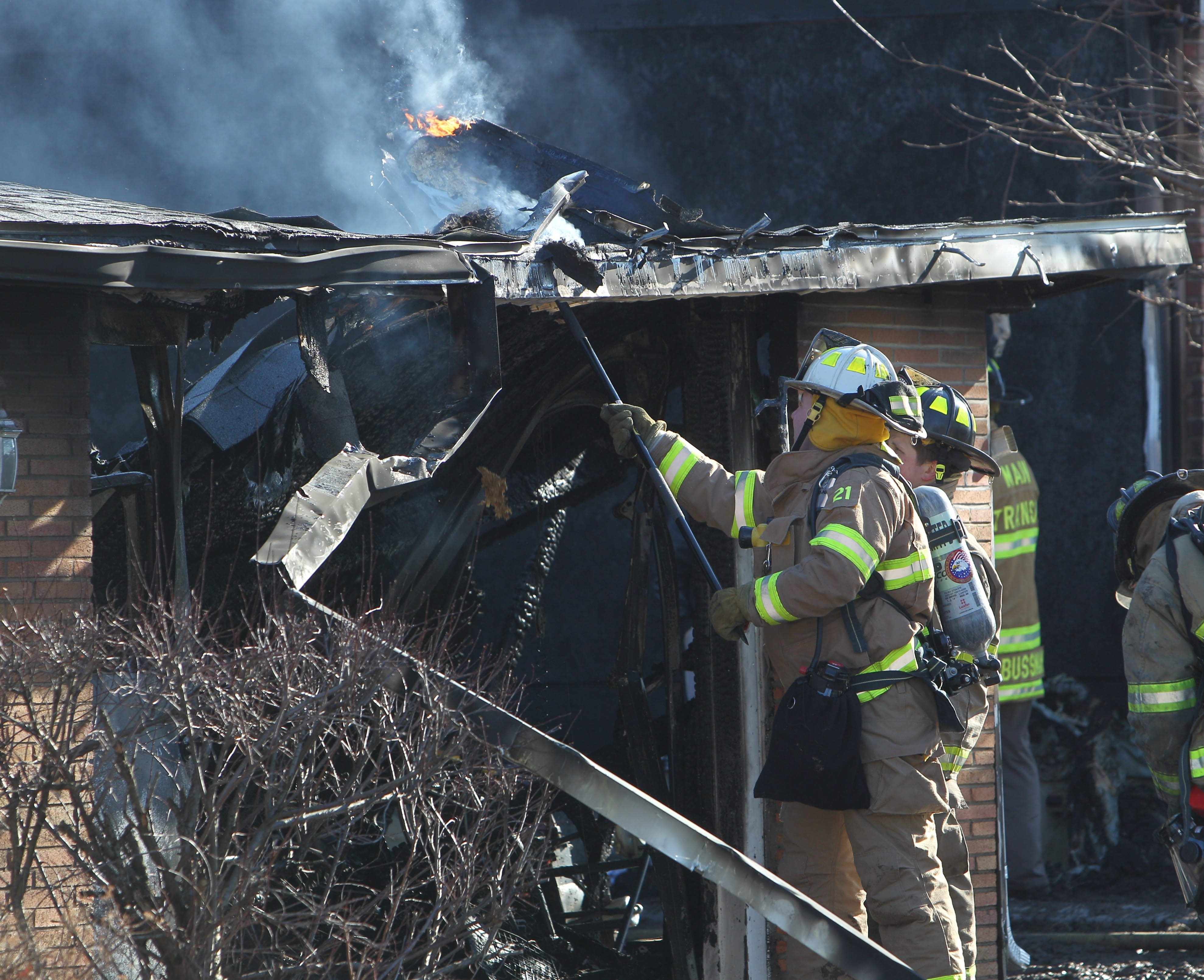 Main Transit Fire Company was the first on the scene of a fire on Berkley Road, between Wehrle Drive and Main Street in Amherst.
