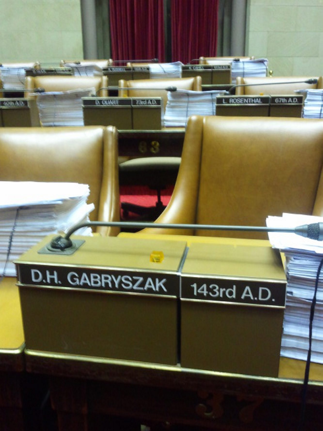 It took too long, but Dennis Gabryszak finally gave up his seat in the Assembly. (Buffalo New photo)