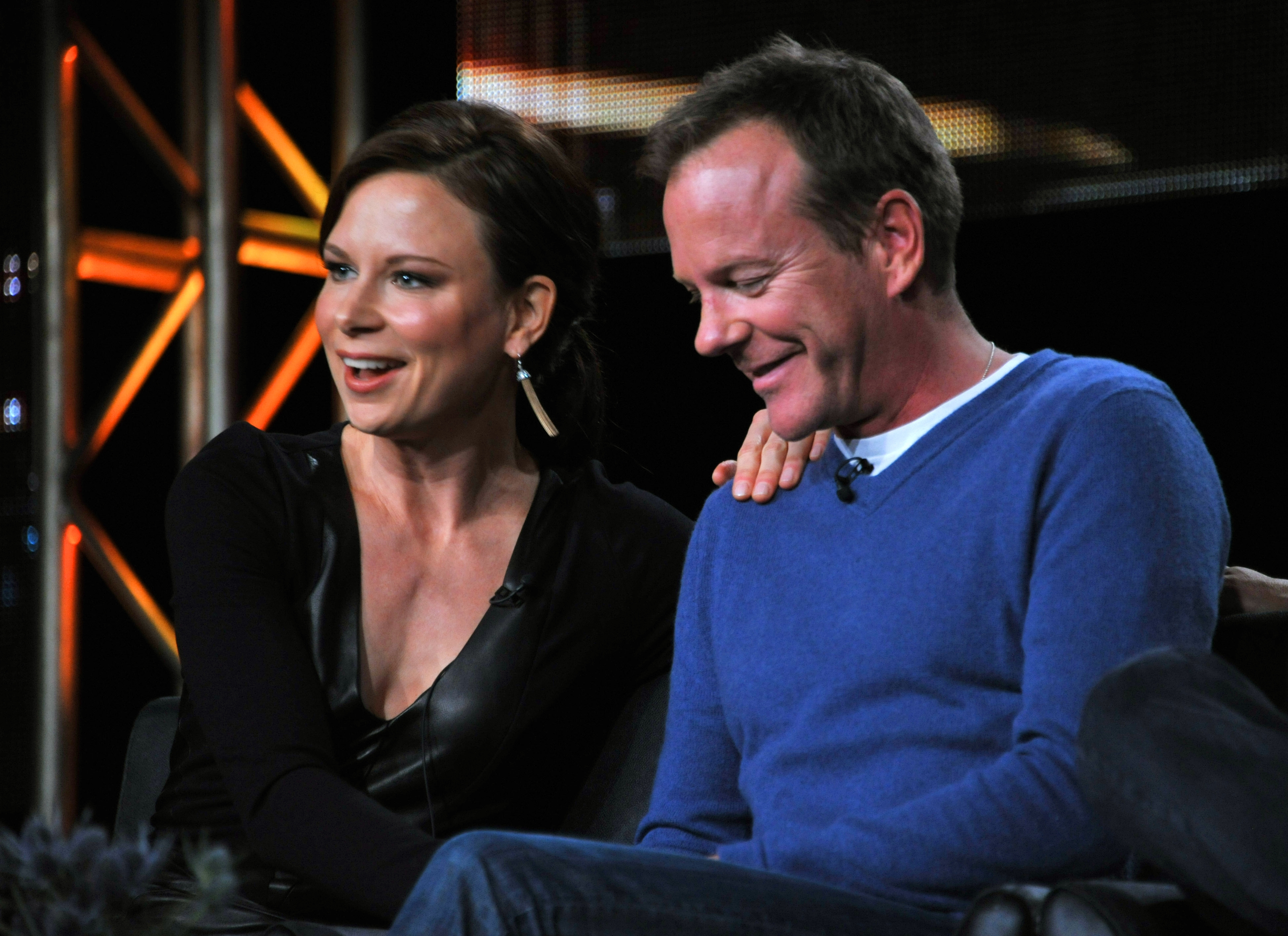 "Mary Lynn Rajskub and Kiefer Sutherland talk about ""24: Live Another Day"" at the FOX Winter 2014 Television Critics Association press tour on Monday in Pasadena."