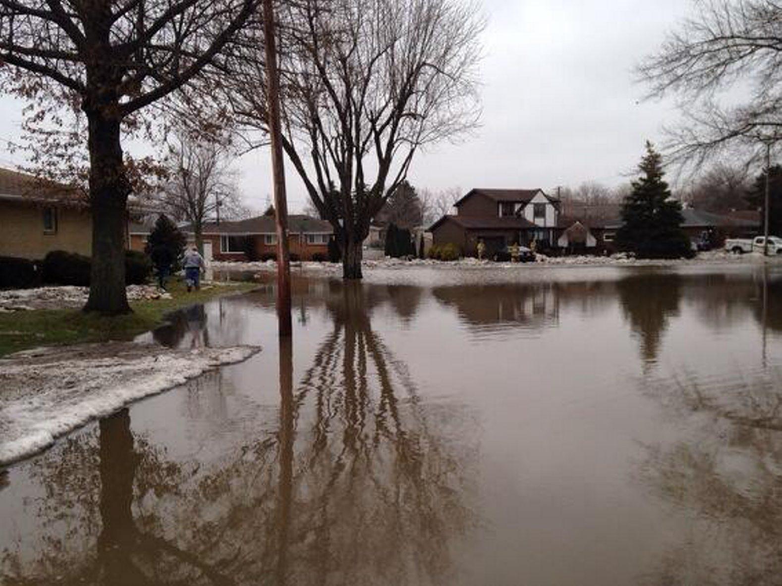 Brian Lane in West Seneca was still under water Sunday.