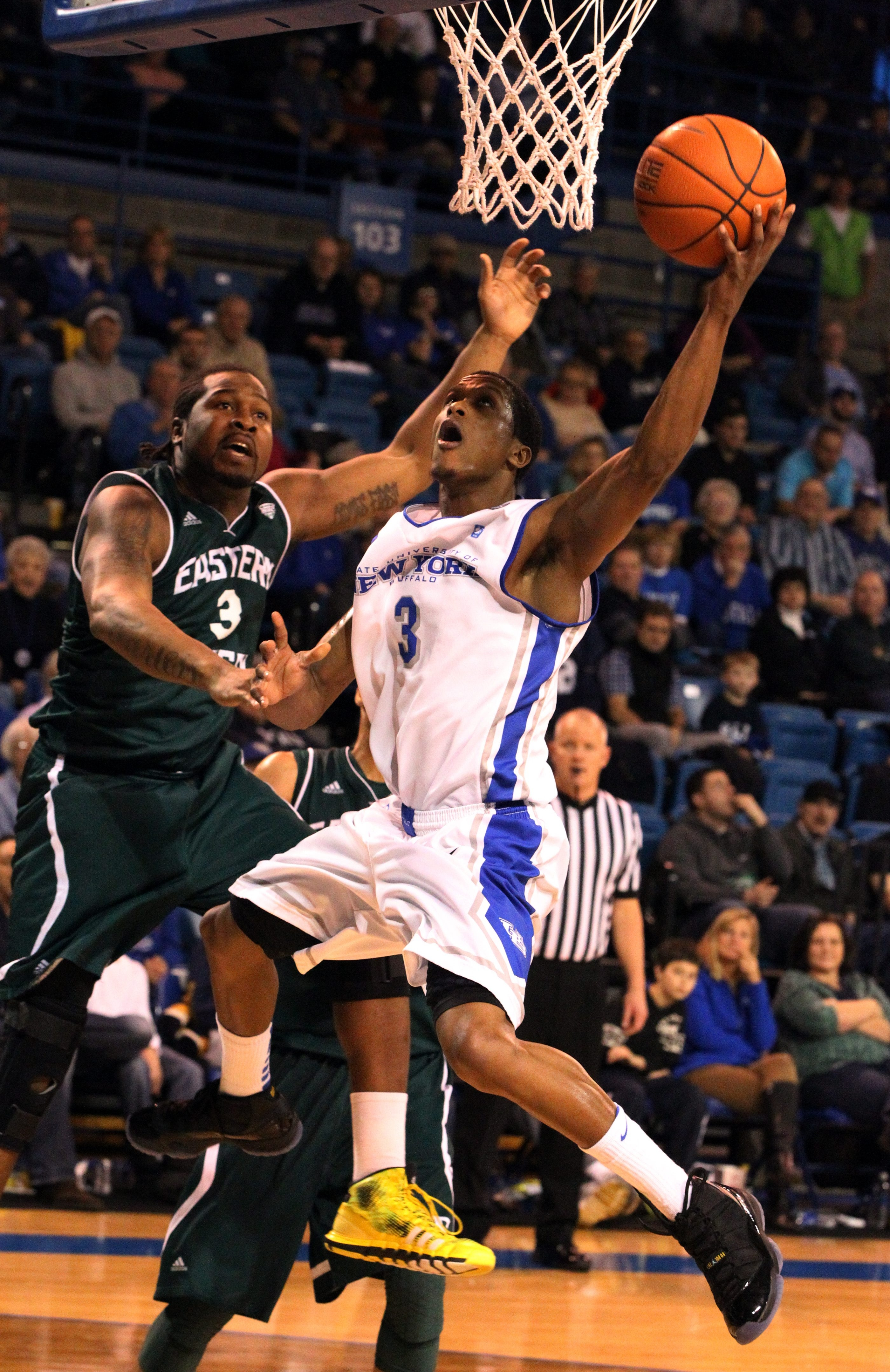 UB's Jarod Oldham is one of four players that have similar styles in the backcourt.