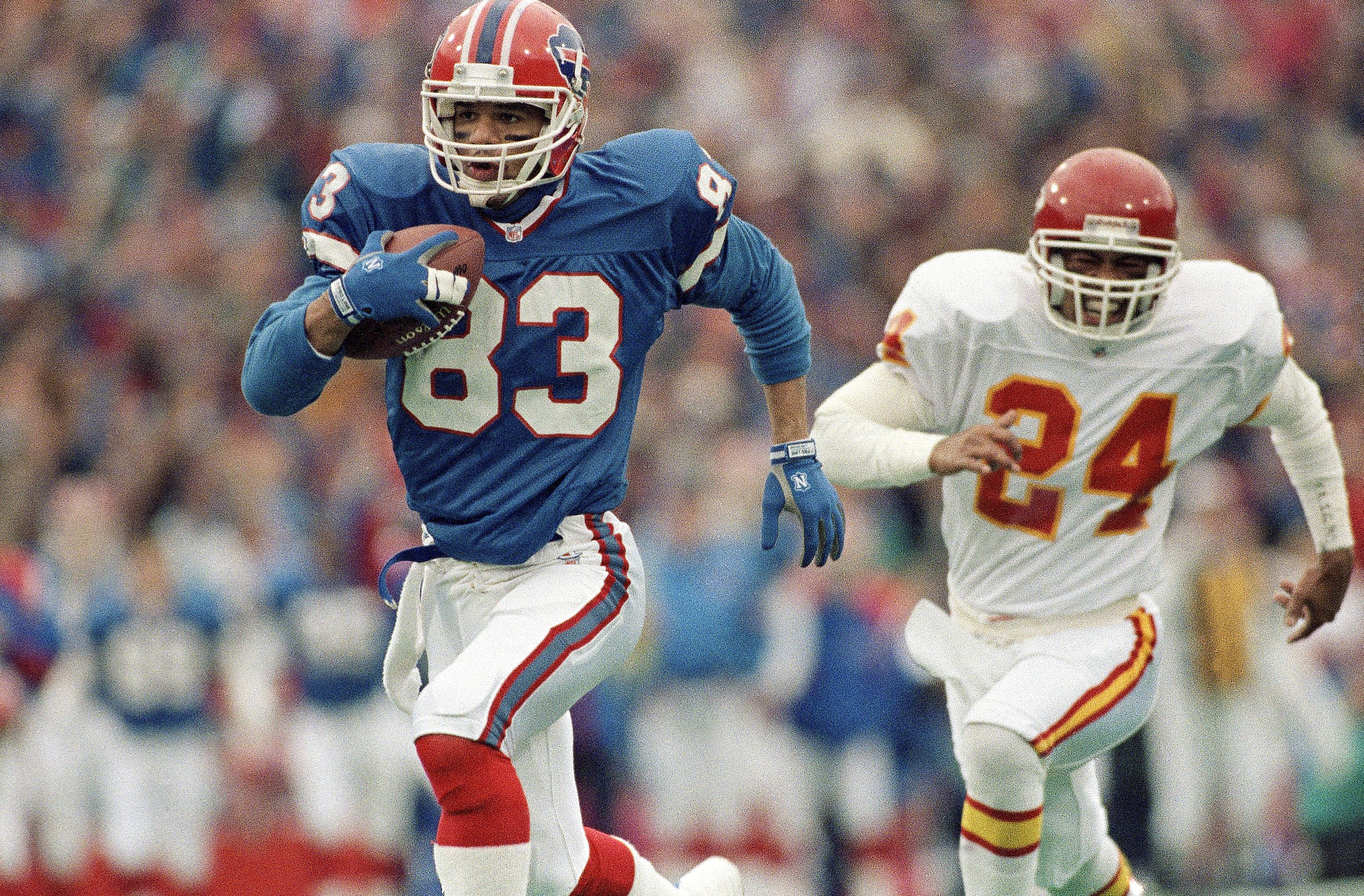 Andre Reed caught 951 passes for 13,198 yards and 87 touchdowns in his NFL career.
