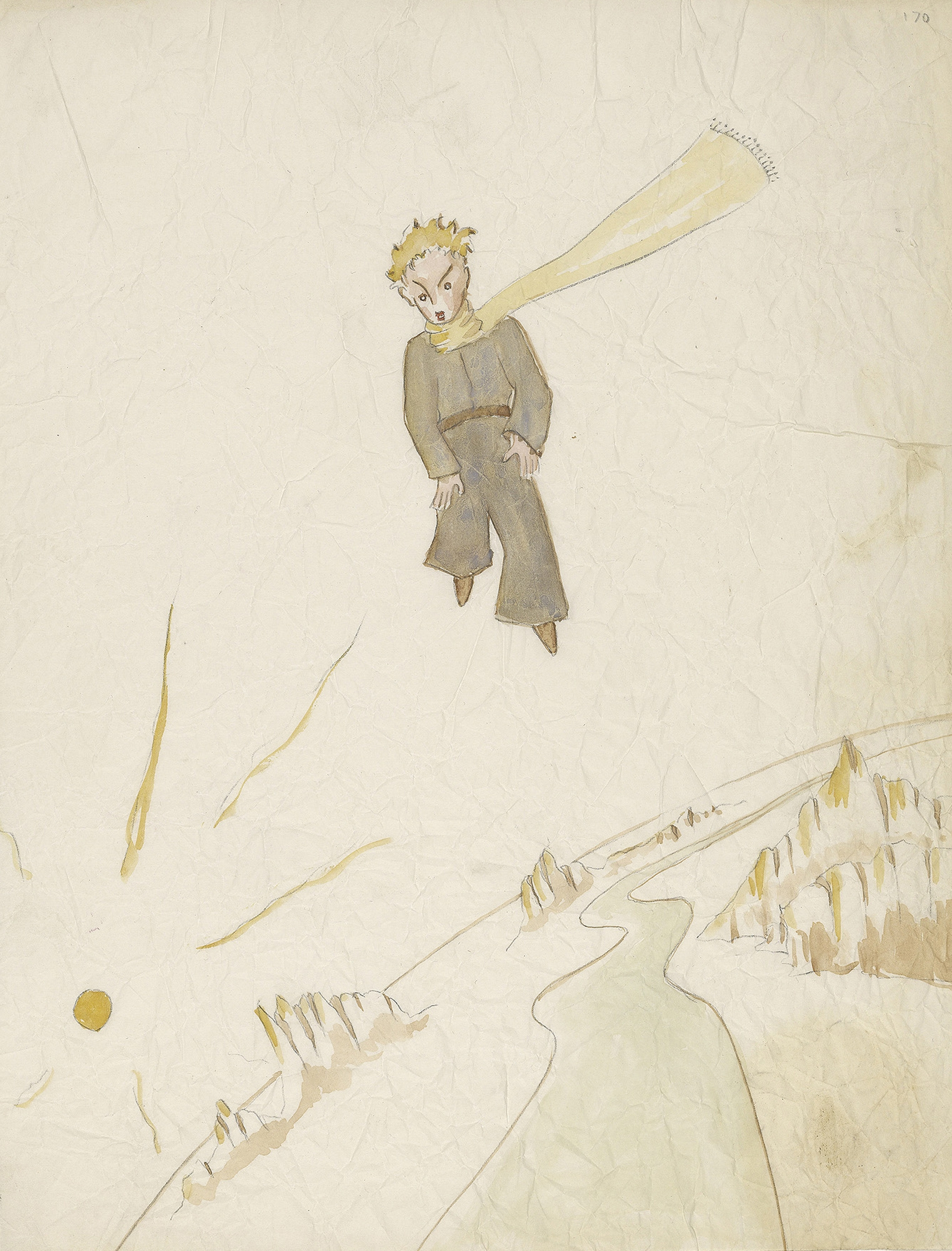 "This drawing is from Antoine de Saint-Exupery's beloved children's tale ""The Little Prince,"" subject of a major exhibition at the Morgan Library and Museum in New York."