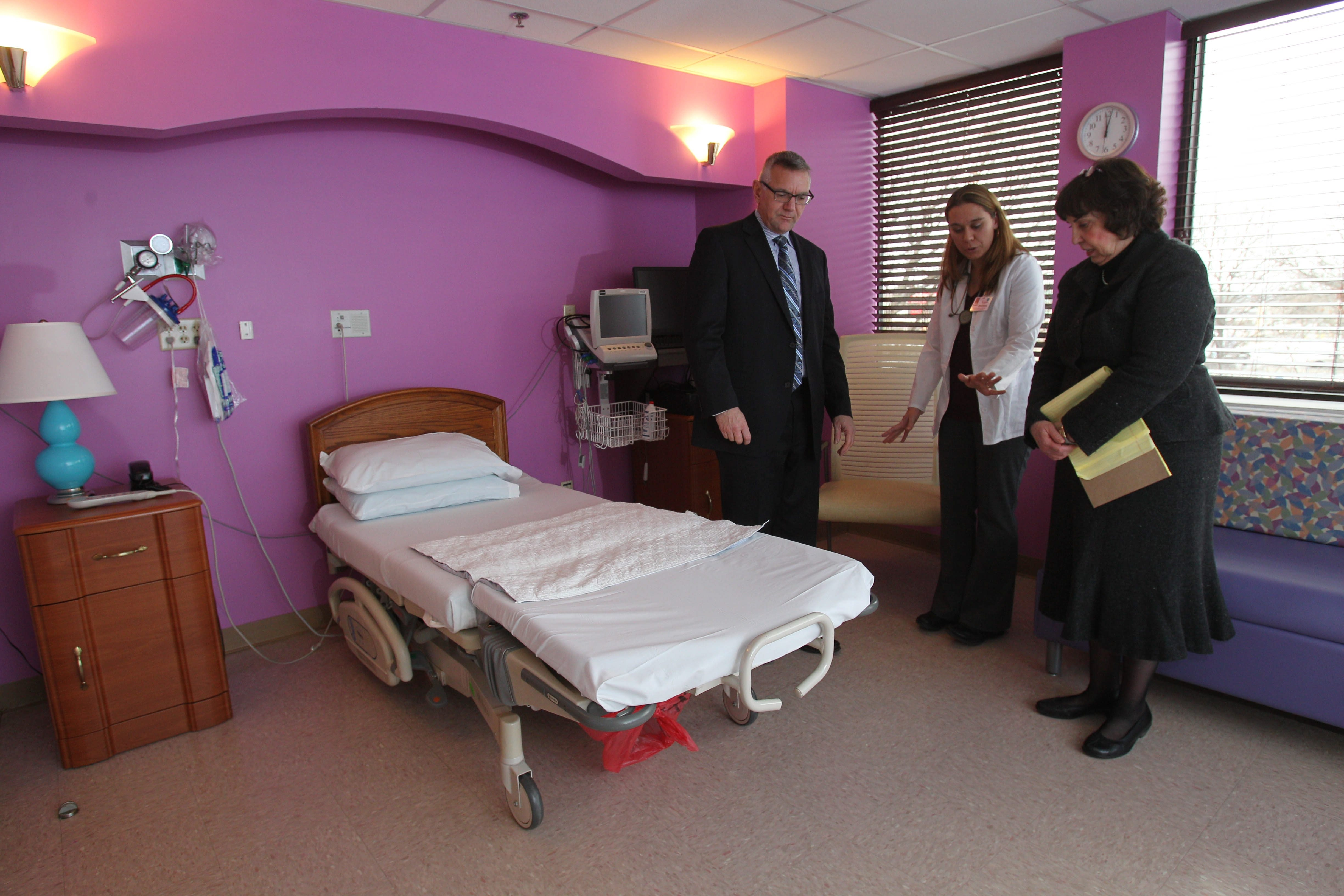 Niagara Falls Memorial Medical Center has undergone renovations and upgrades, led by President and CEO Joseph Ruffolo; Director of Women's Services Susan Martin; and Vice President and COO Sheila Kee.
