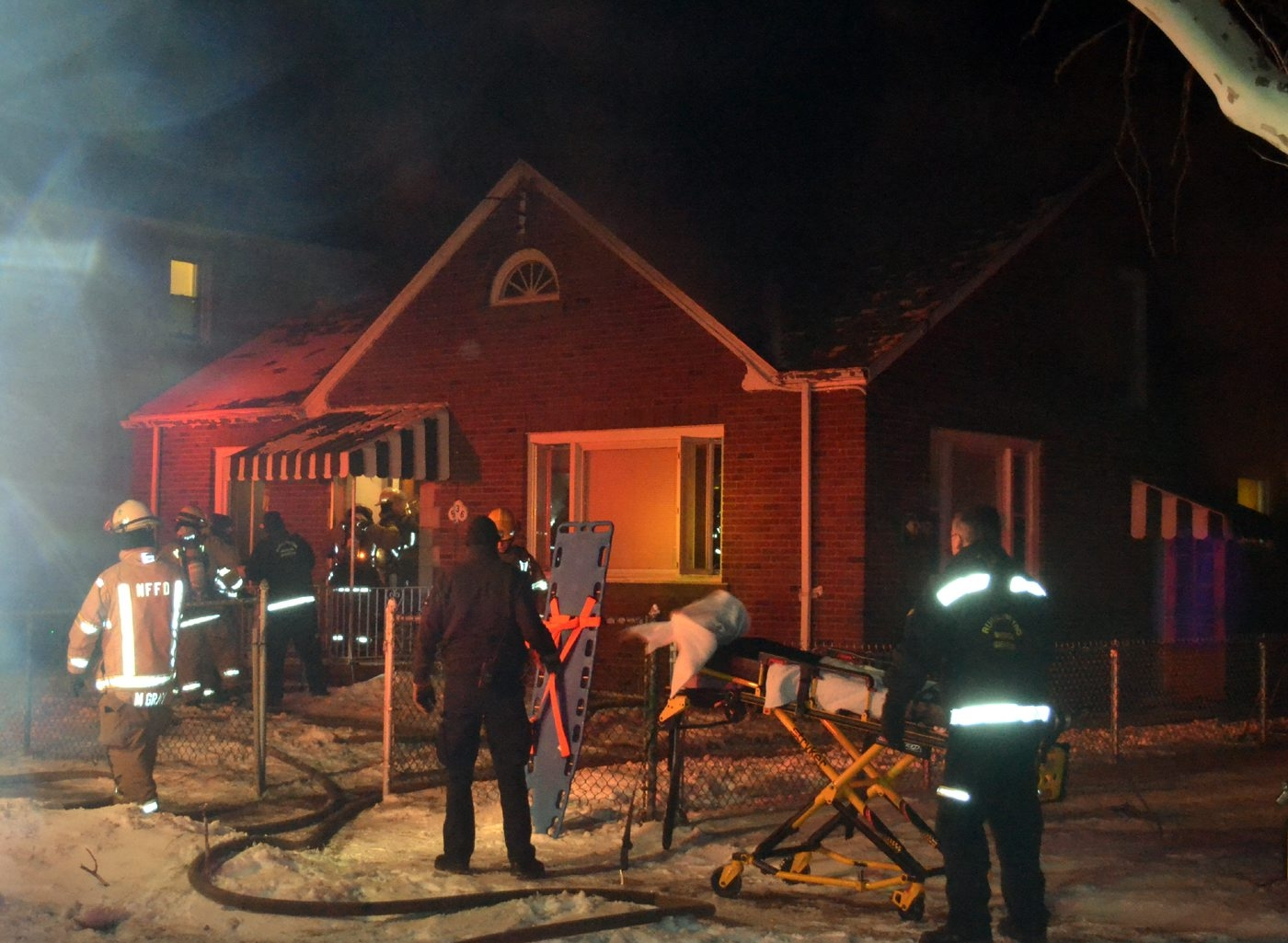 Firefighters at the scene of the fatal blaze on 26th Street in Niagara Falls.