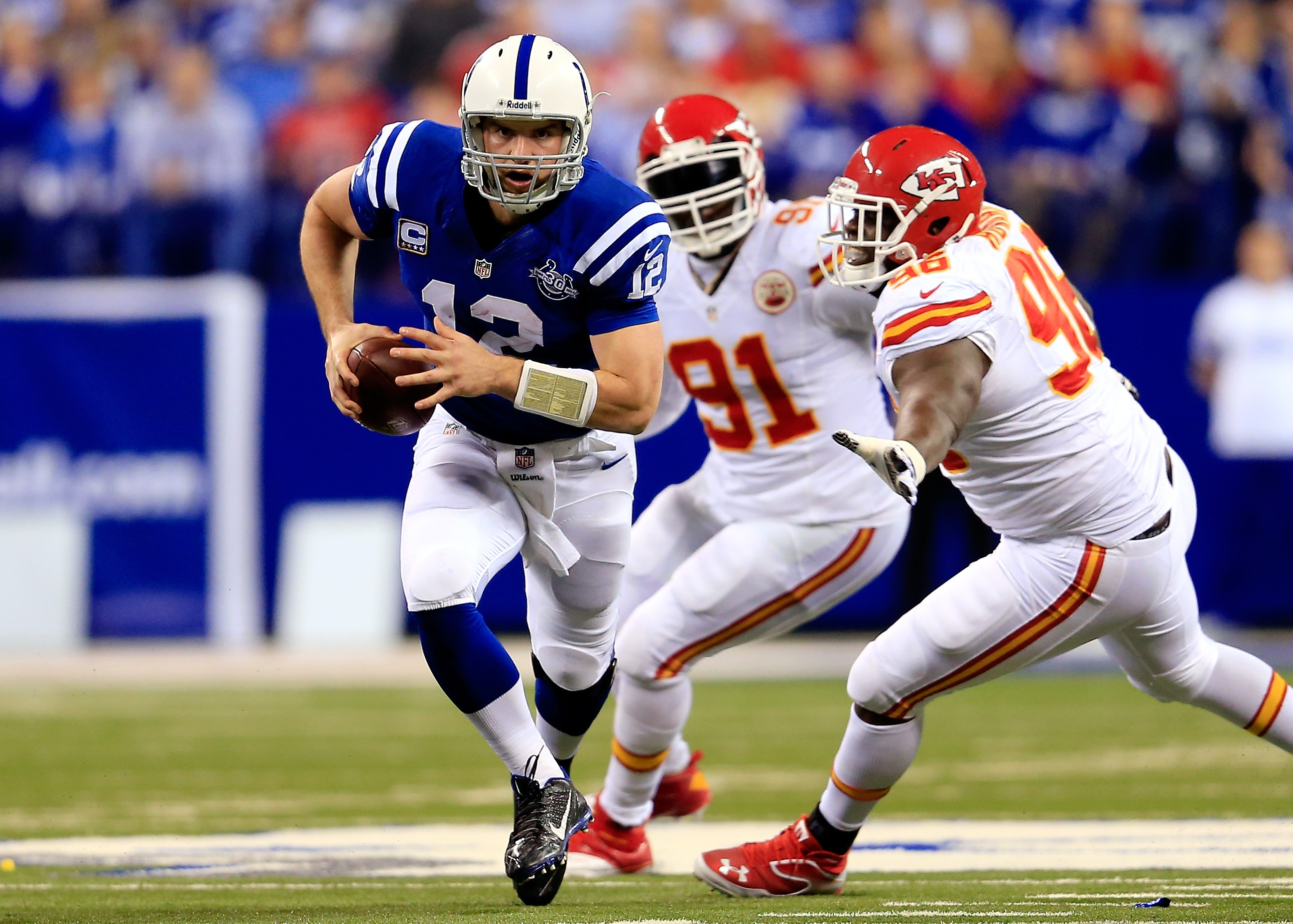 Andrew Luck of the Indianapolis Colts mounted a Frank Reich-like comeback in Wild Card Playoff game win over the Kansas City Chiefs on Saturday.