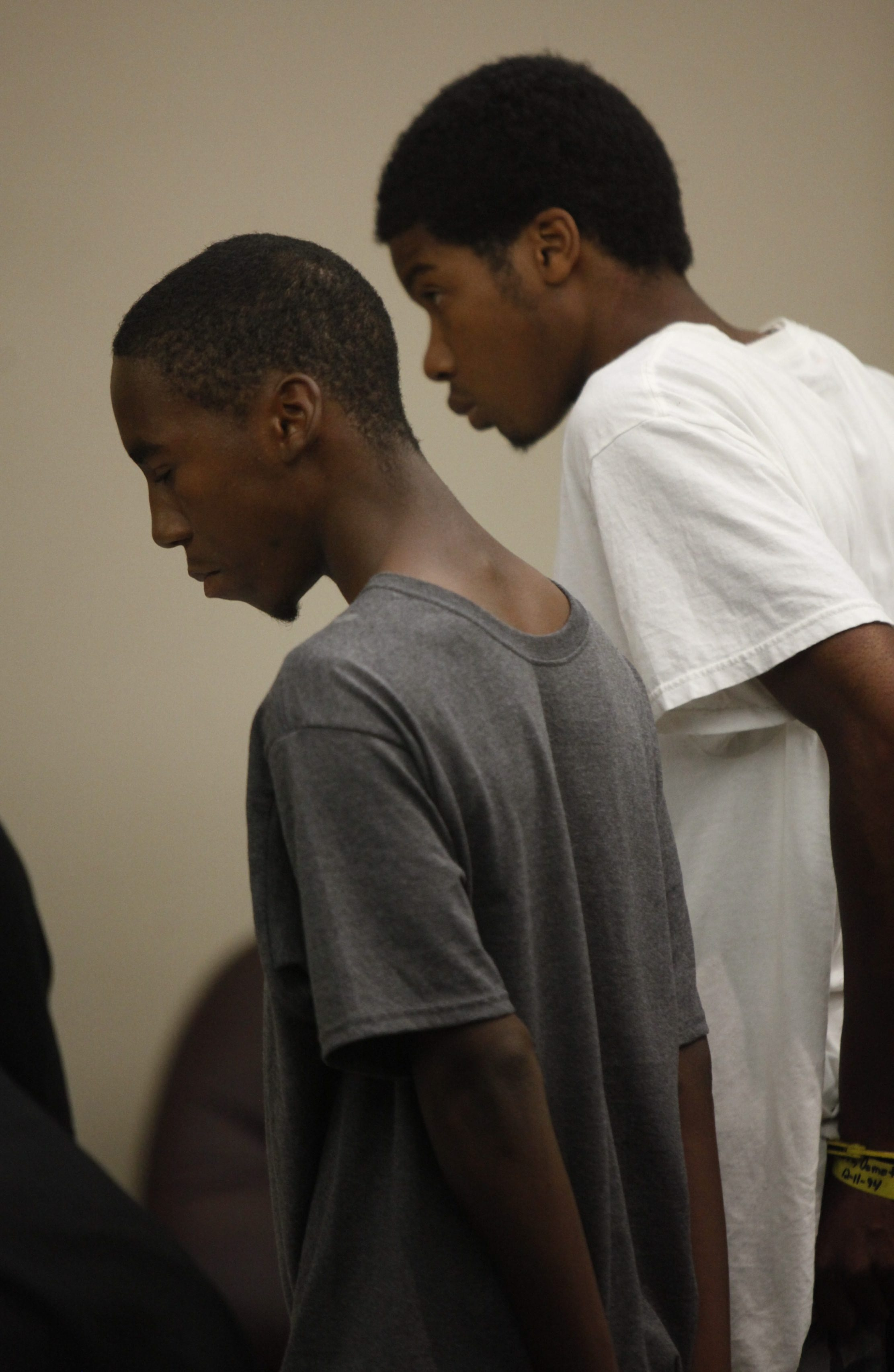 Ezeiekile Nafi, left, and Demetrius Huff, shown in City Court in 2012, have both been convicted in teen's killing.