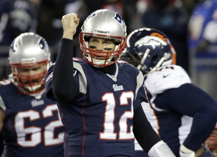 With quarterback Tom Brady in their huddle, the New England Patriots can never be counted out of a game. (Associated Press)