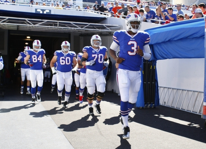 EJ Manuel led the Bills onto the field as their starting quarterback 10 times because of three knee injuries during the season. He hopes to put the injury bug behind him as he begins preparation for his second season in the NFL.( Harry Scull Jr. / Buffalo News}