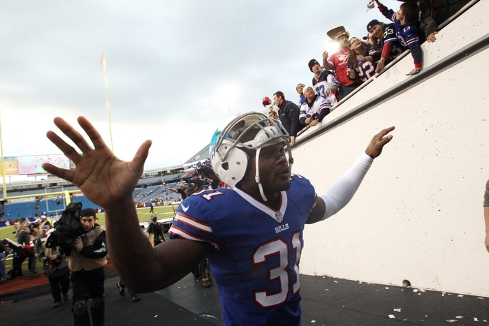 Pro Bowl safety Jairus Byrd might have played his last game for the Bills. (James P. McCoy/Buffalo News)