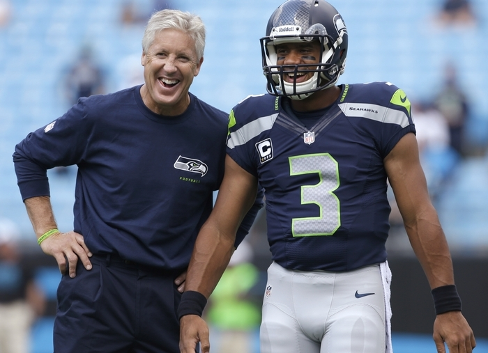 Seahawks coach Pete Carroll and quarterback Russell Wilson have formed a winning combination.