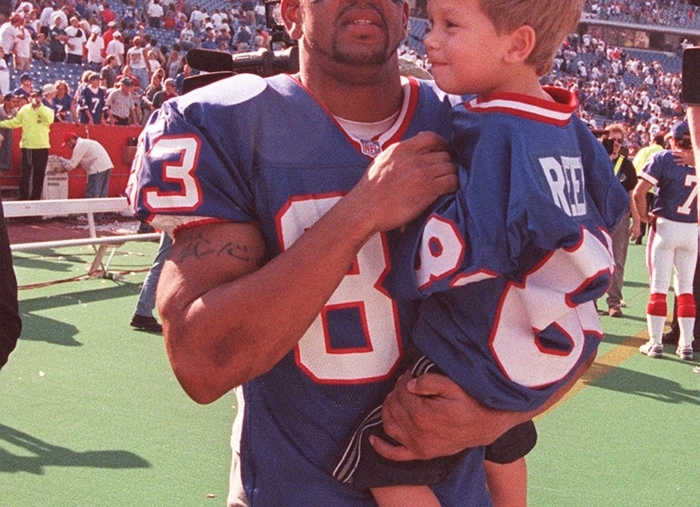 Andre Reed broke all of Elbert Dubenion's records with the Bills. (James P. McCoy/Buffalo News file photo)