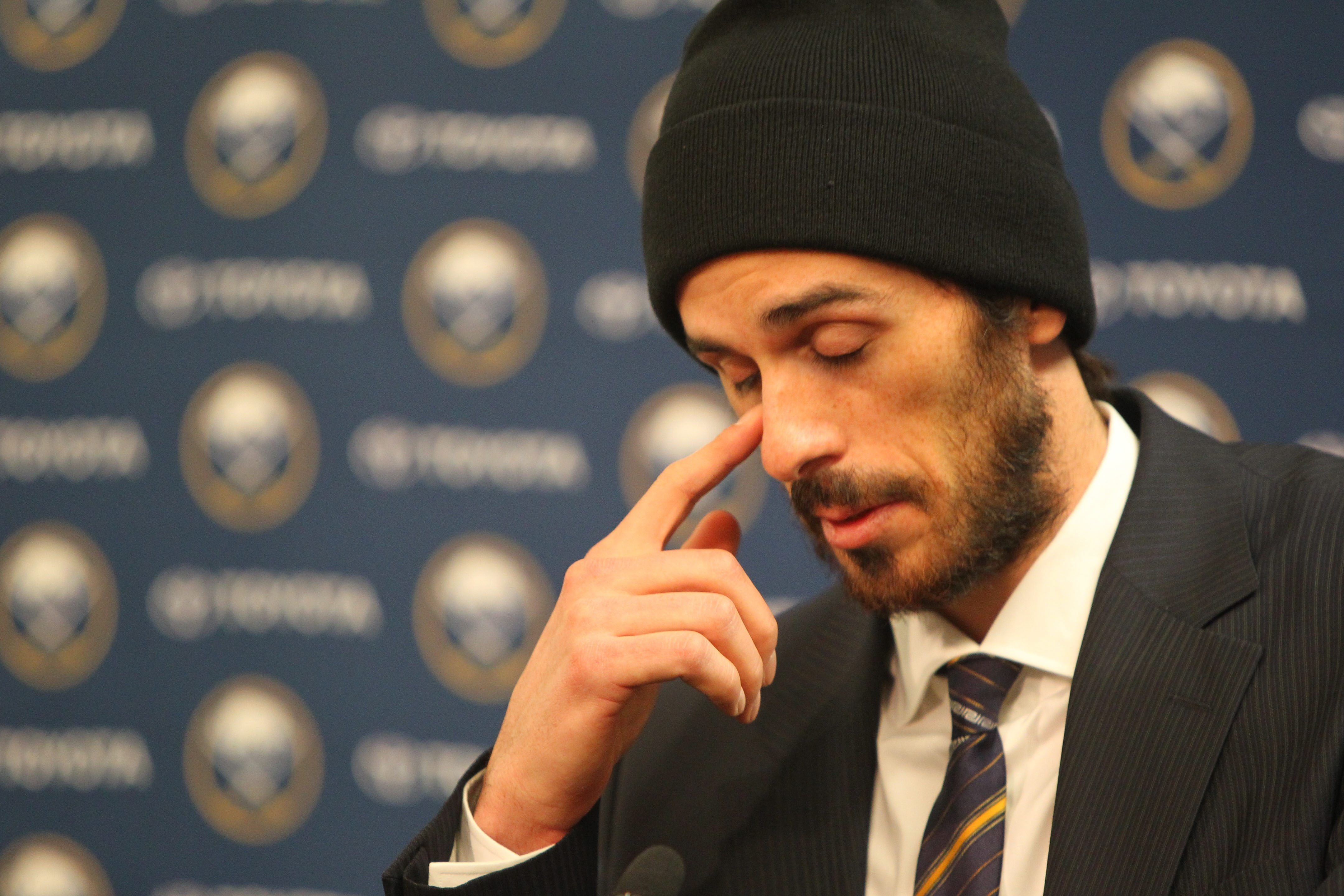 Friday night was an emotional time to look back for Ryan Miller, who was the face of the Sabres franchise for a decade.    (Mark Mulville/Buffalo News)